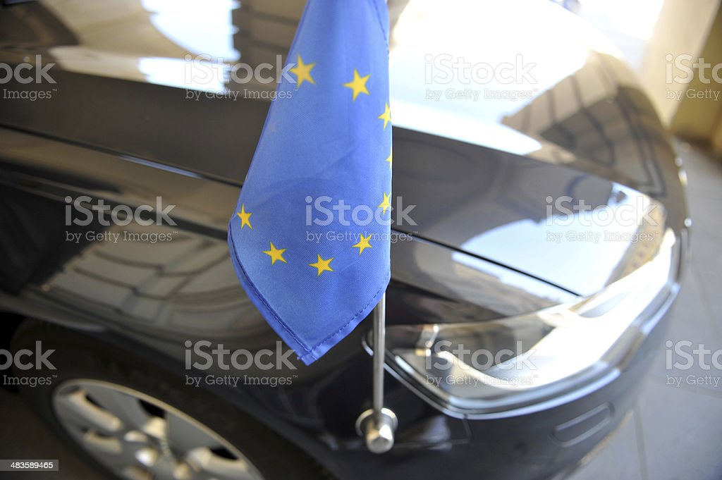 Diplomatic Car of European union stock photo