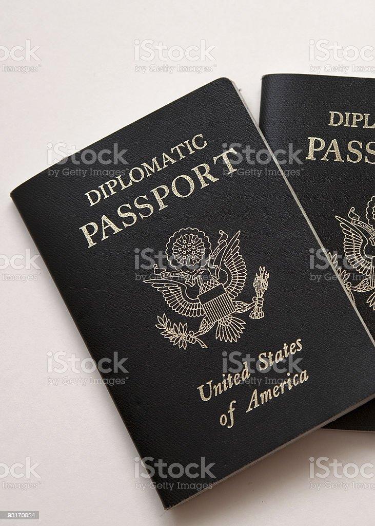 Diplomatic passports stock photo