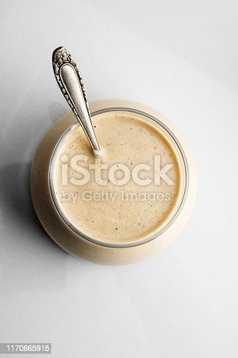Ranch Dressing, Savory Sauce, Mayonnaise, Salad Dressing, Yogurt,Cooking, Mustard, Honey, Salad,Dipping Sauce,White Background, Stuffing - Food