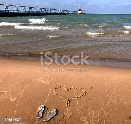 177362898 istock photo Dipping toes in the sand 1126814372