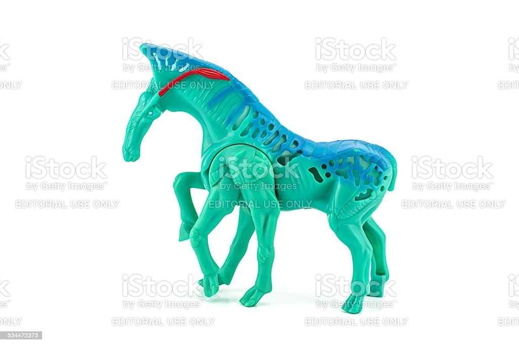 Dire horses toy character in AVATAR stock photo