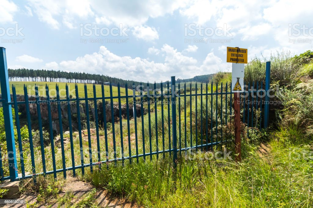 Direct at the Berlin Falls in Blyde River area, South Africa 免版稅 stock photo