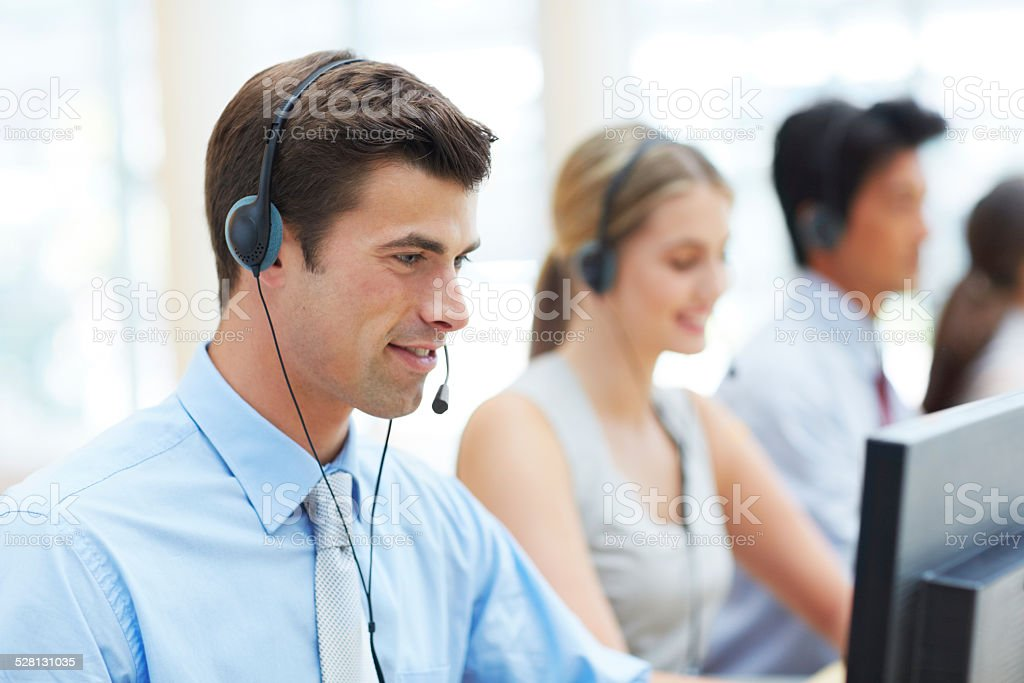 Directing your calls stock photo