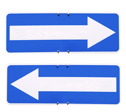 Direction arrow sign