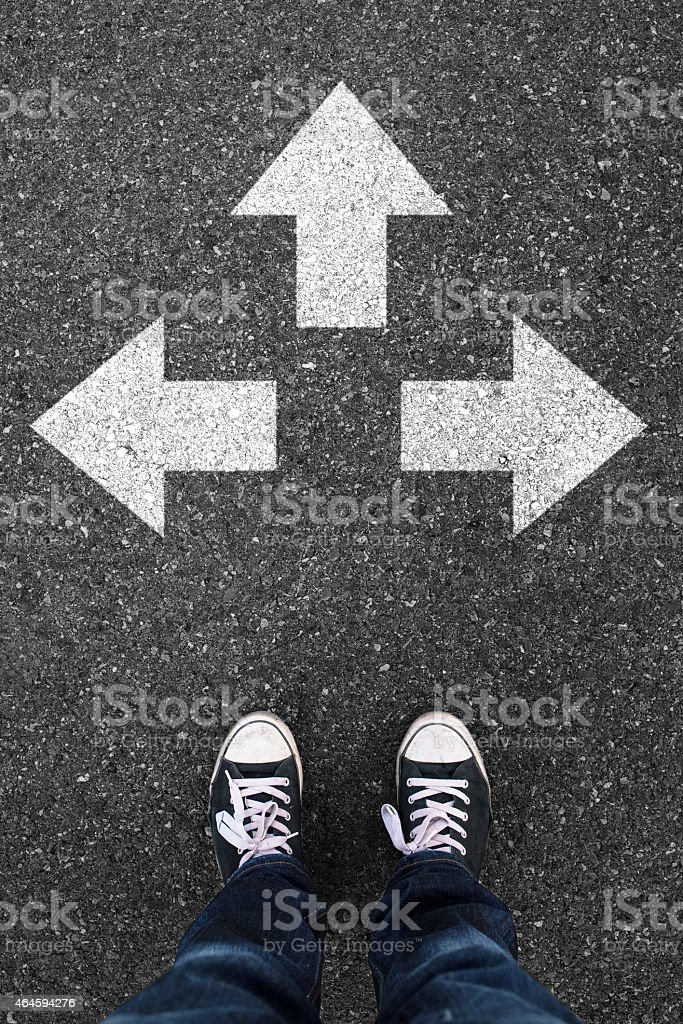 Direction choice stock photo
