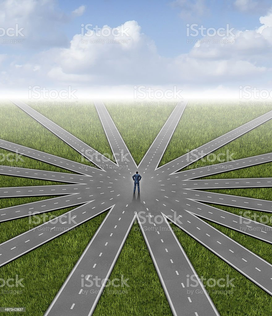 Direction Choices stock photo