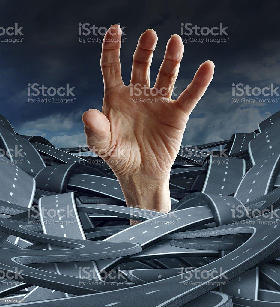 Direction Despair royalty-free stock photo