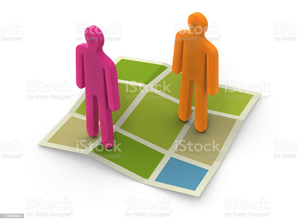 Direction Map Icon stock photo