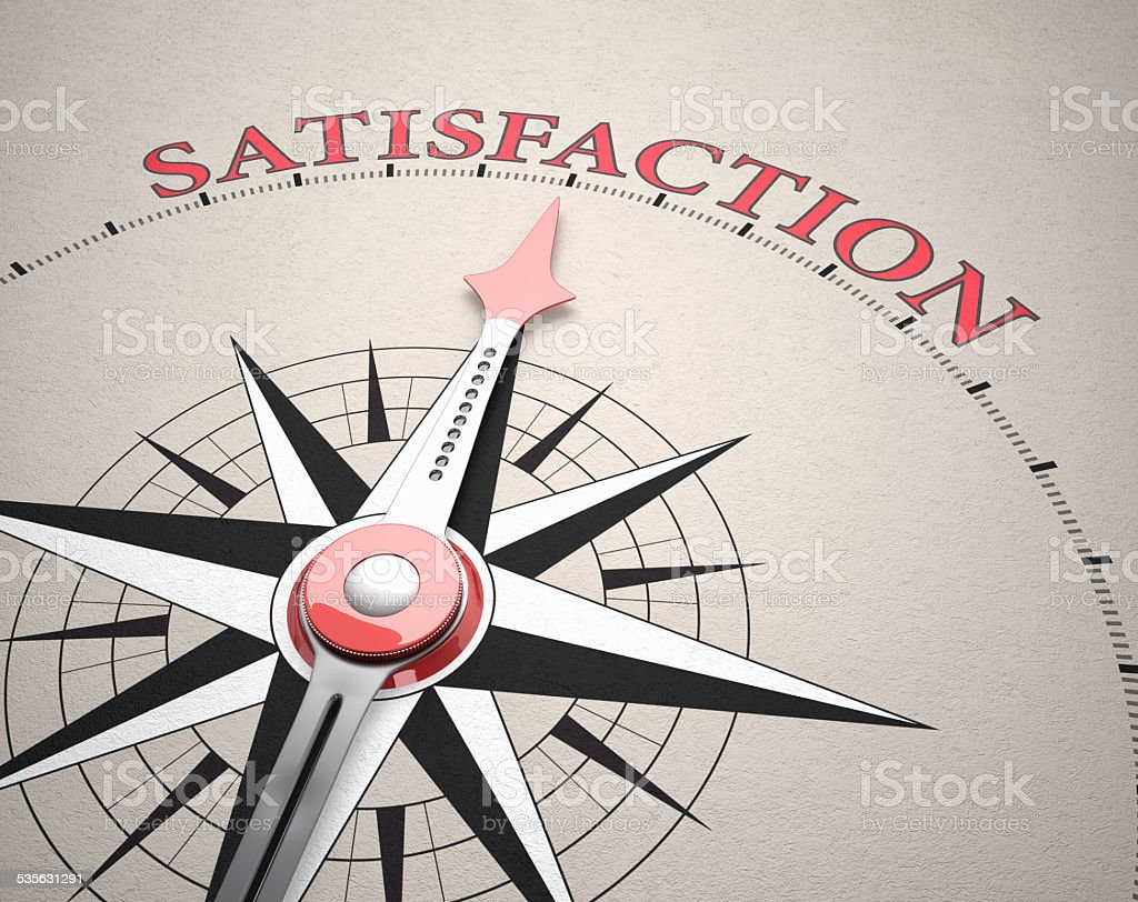Direction of Satisfaction stock photo
