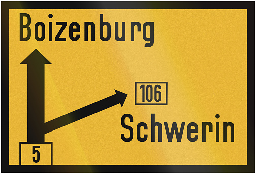 Direction Sign To Boizenburg1956