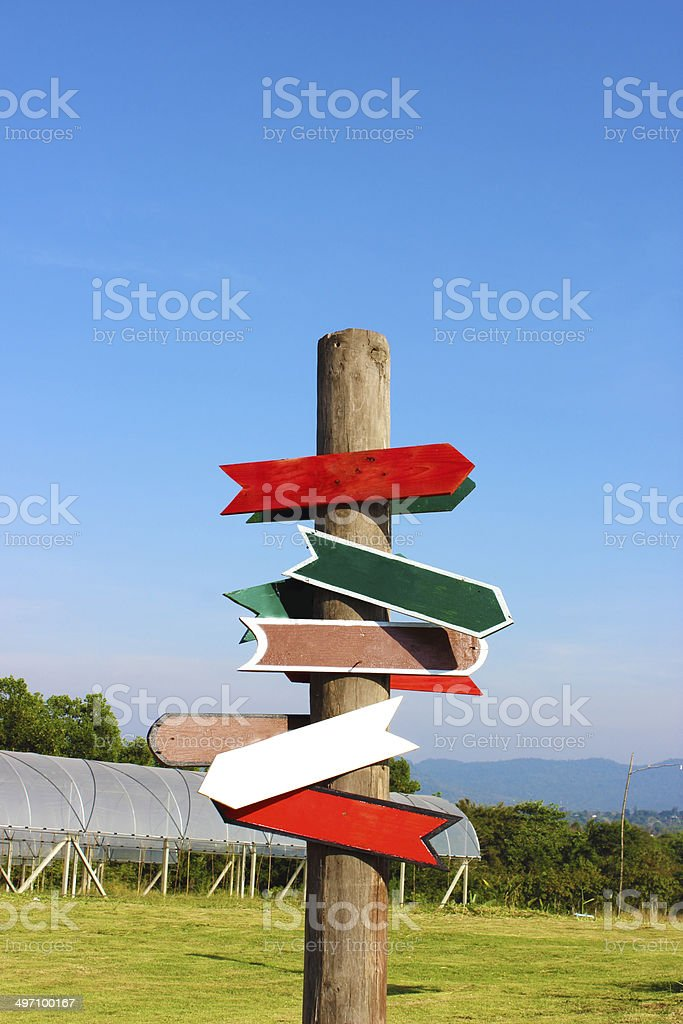 Direction Signs stock photo