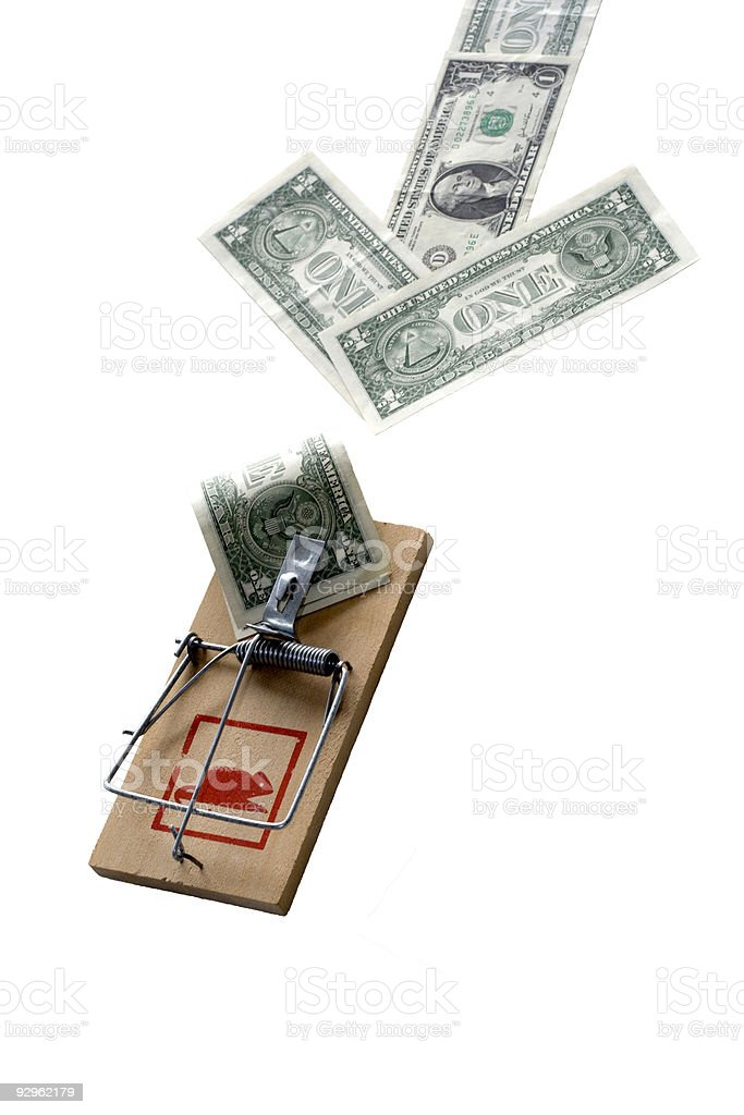Direction to Money Trap royalty-free stock photo