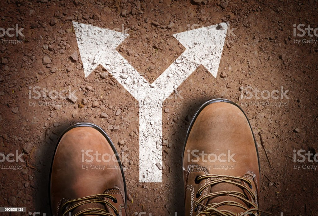 Directional arrow stock photo