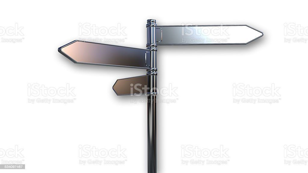 Directional arrows road sign stock photo