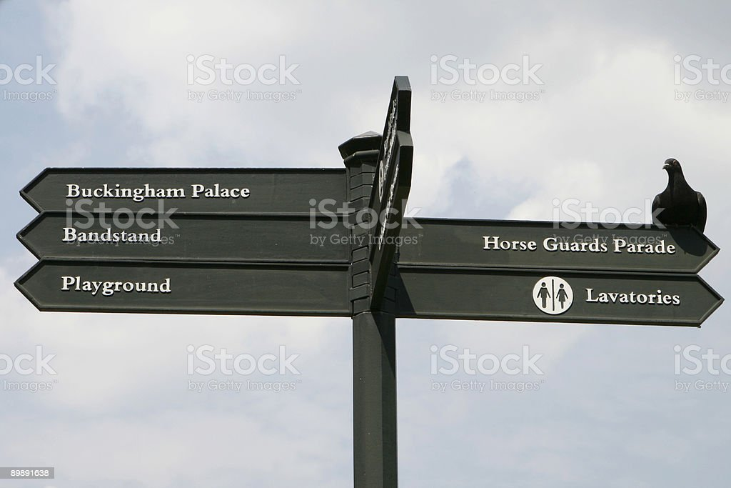 Directional Sign in London royalty-free stock photo