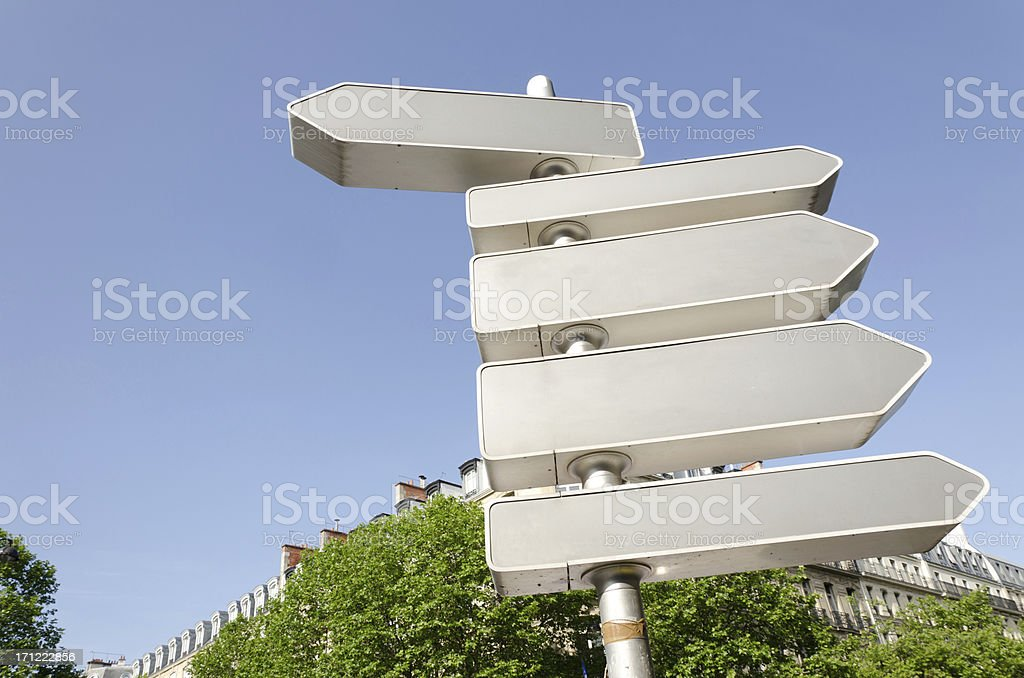 directional sign royalty-free stock photo