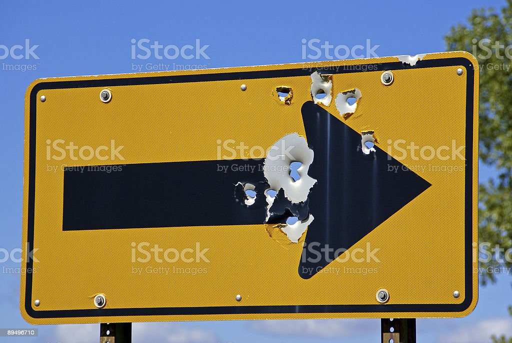 Directional Sign royalty free stockfoto