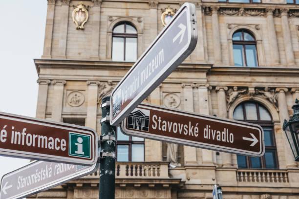 Directional sign to stavovske divadlo and narodni museum in prague picture id1061341386?b=1&k=6&m=1061341386&s=612x612&w=0&h=c2efi5ioc2blfmr93uo800os0zwub1puekfcqm7jkwc=
