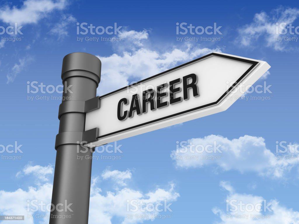 Directional Sign with Career Word royalty-free stock photo