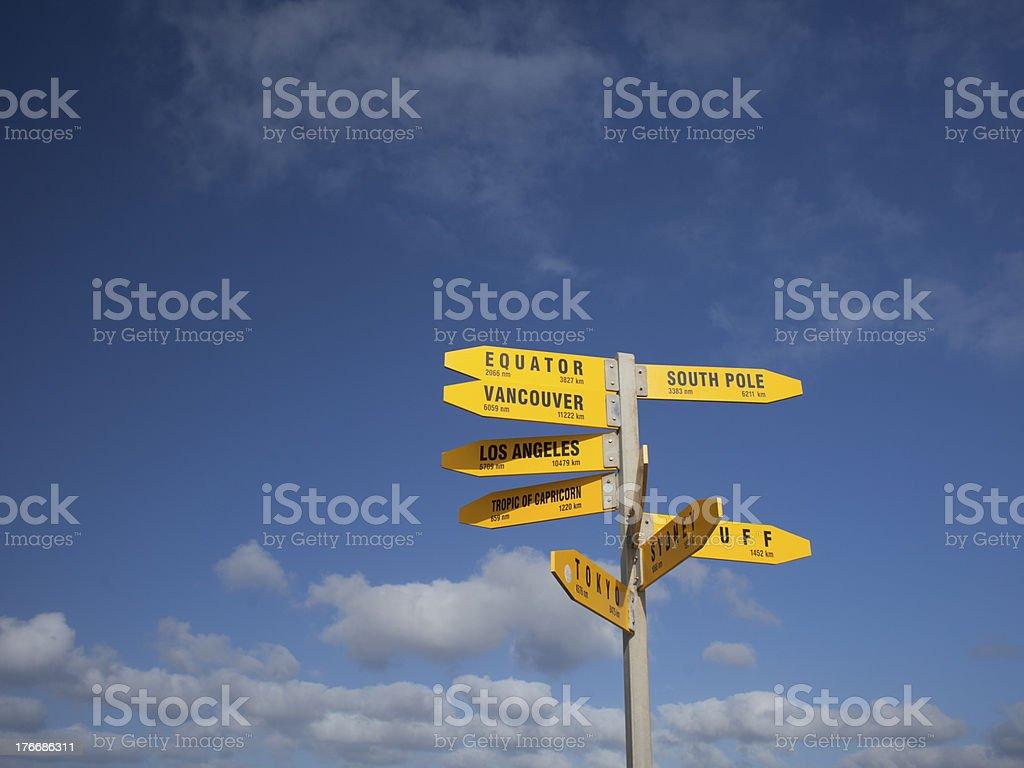 Directional Signpost stock photo