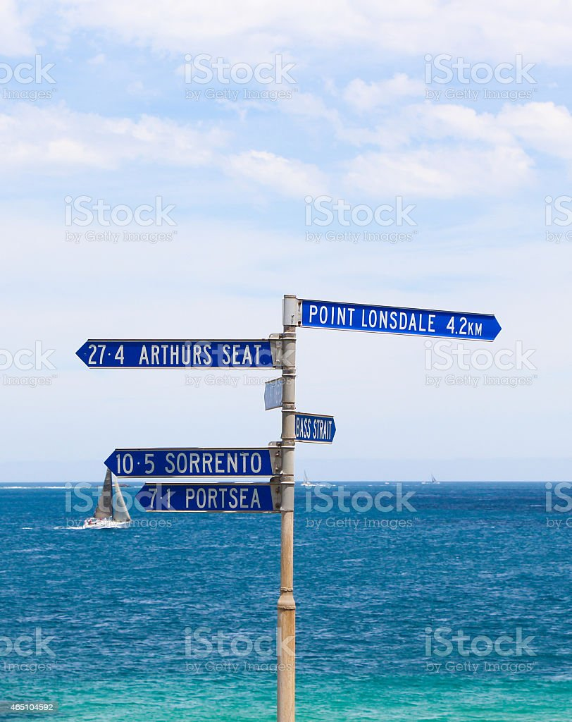 Directional Signs at St. Leonard's stock photo