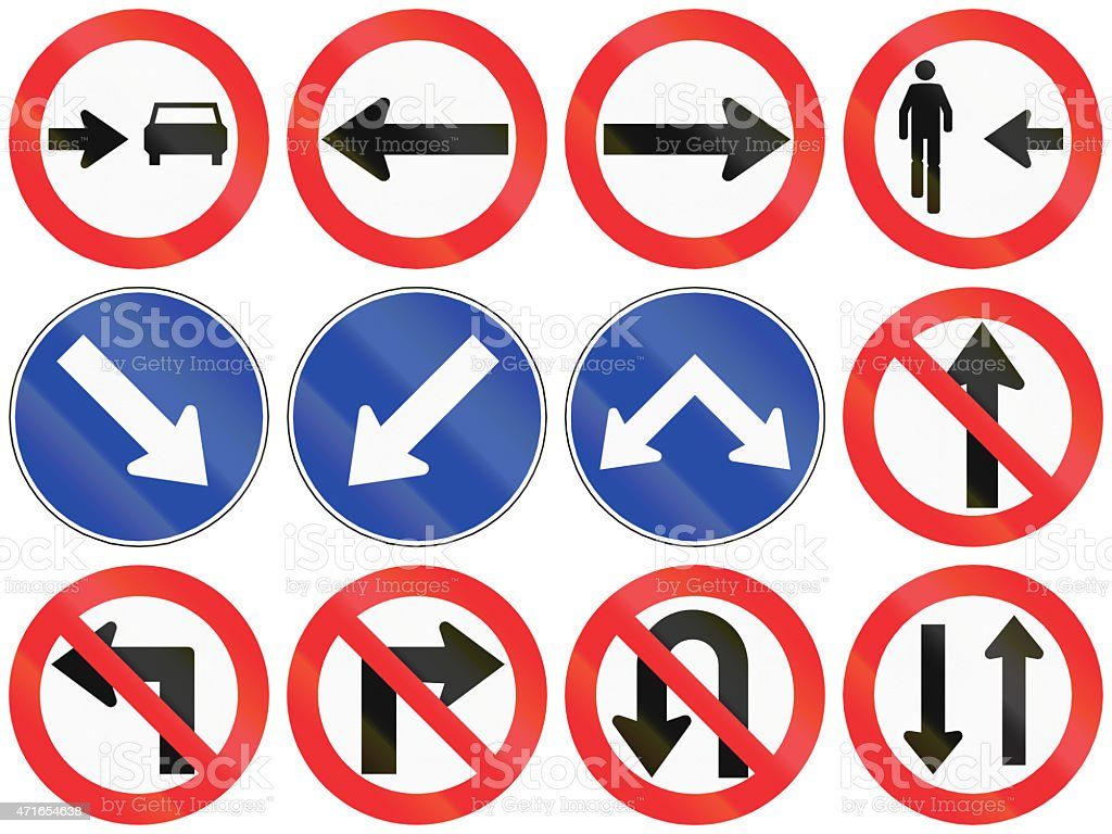 Directions In Chile stock photo