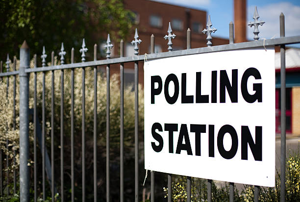 directions to uk polling station - polling place stock pictures, royalty-free photos & images