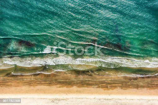 istock Directly Above a California Beach 951782268