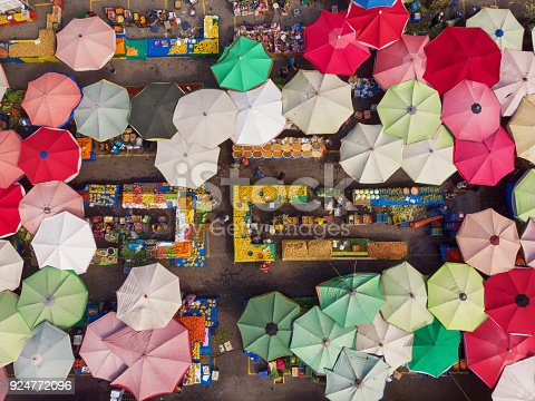 istock Directly Above View of a Neighborhood Market in Turkey 924772096