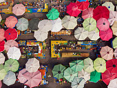 Directly Above View of a Neighborhood Market in Turkey