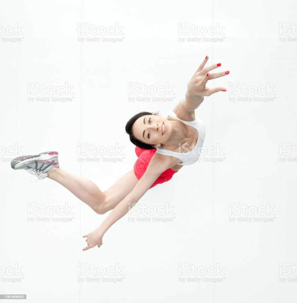 Directly above view of female dancer