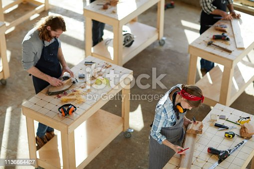 Drafting on wooden plank