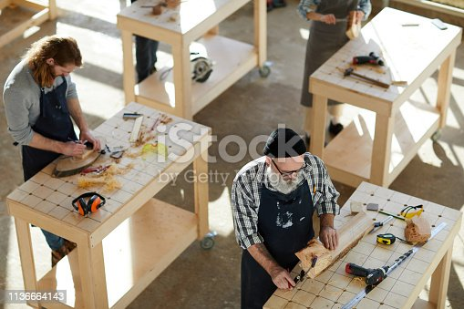 Viewing unprocessed wooden planks