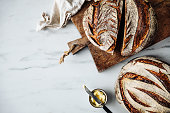 istock Directly above view of sourdough bread and butter 1225036982