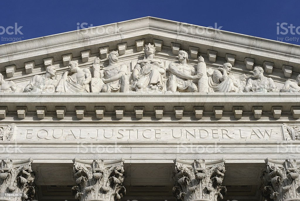Directly Under Law stock photo