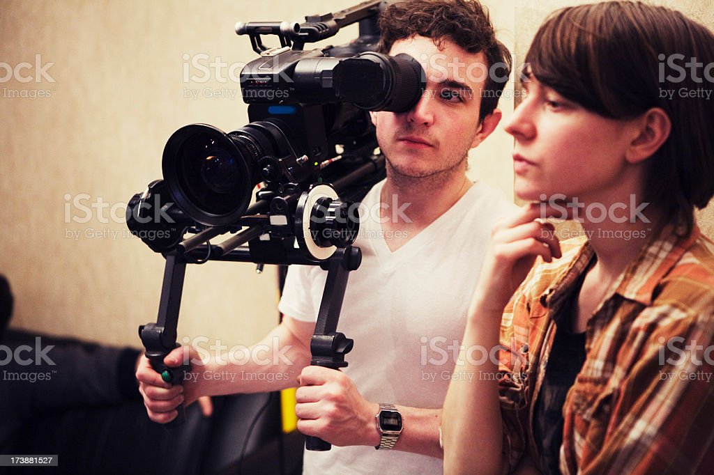 Director and DP Consider a Shot stock photo