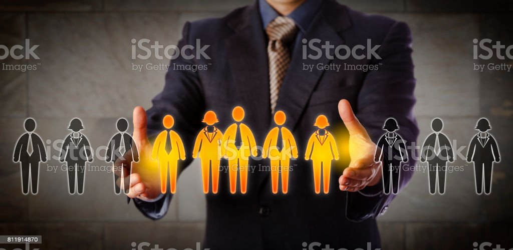 Director Building A Mixed Gender Management Team stock photo
