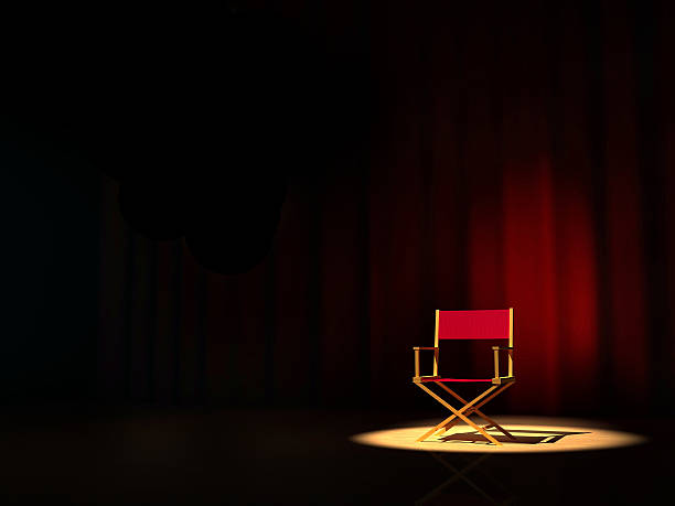 director chair - director stock photos and pictures
