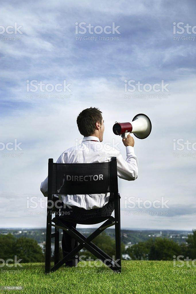 Director managing stock photo