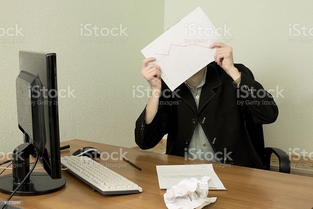Director on workplace with a graph royalty-free stock photo