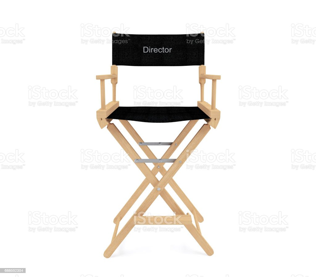 Director's chair isolated on white background stock photo
