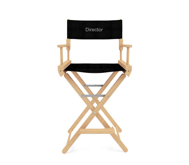 director's chair isolated on white background - director stock photos and pictures