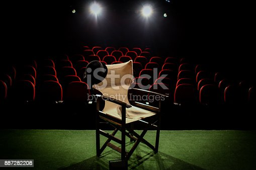 istock Director's chair on stage 887282208