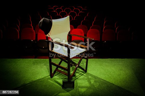 istock Director's chair on stage 887282256