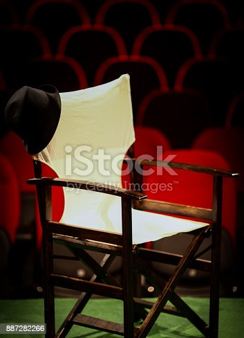 istock Director's chair on stage 887282266