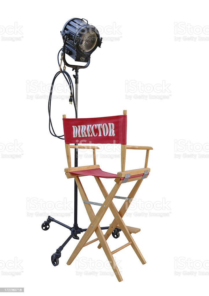 Director's Chair stock photo