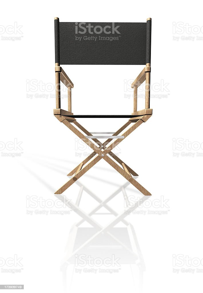 Directors chair royalty-free stock photo