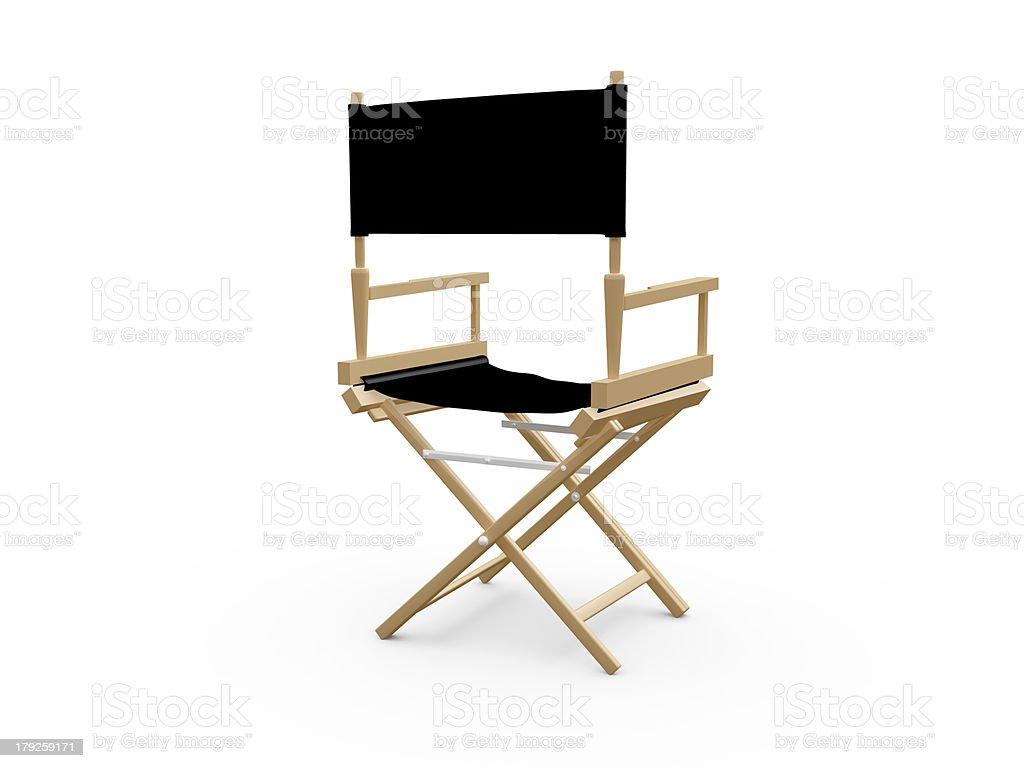 Directors Chair stock photo