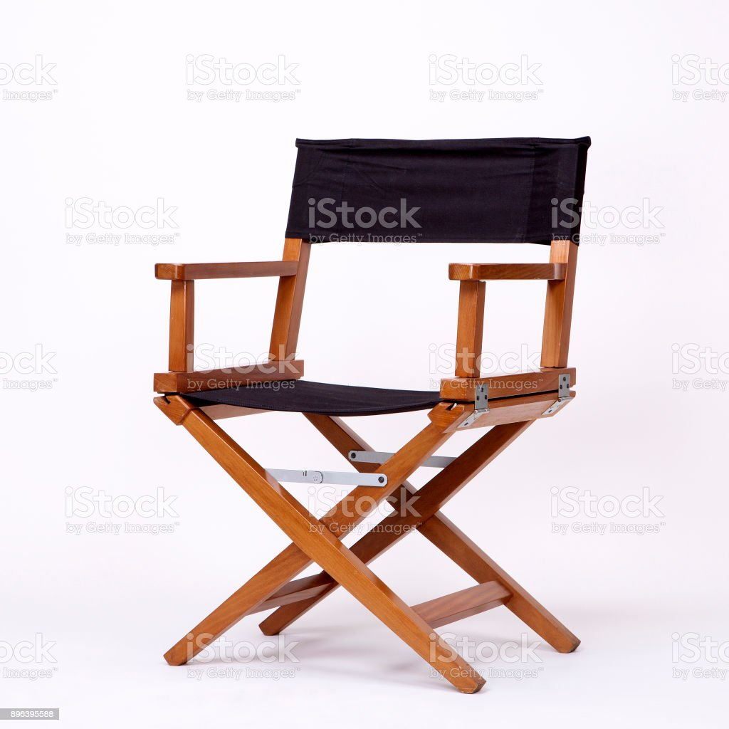 Director\'s Chair in Film Industry, Isolated on White background with...