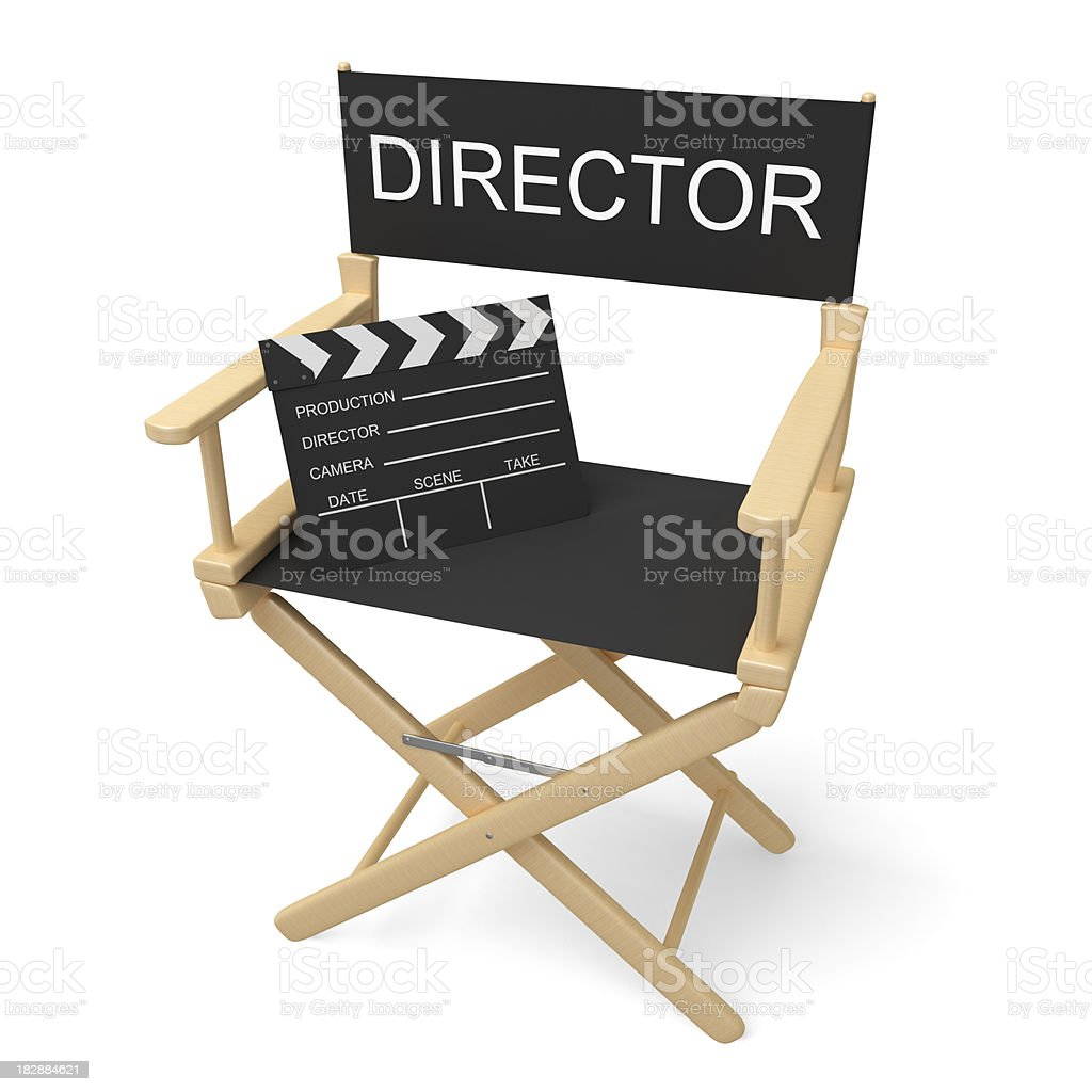 Director's Chair with Clipping Path stock photo